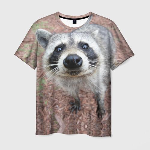 Мужская футболка 3D Носик енота