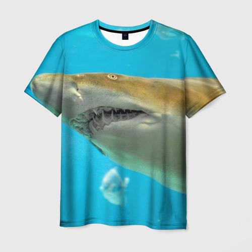 Мужская футболка 3D Тигровая акула
