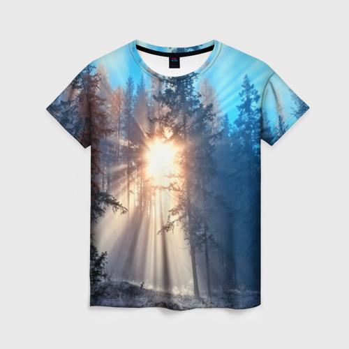 Женская футболка 3D Woodland