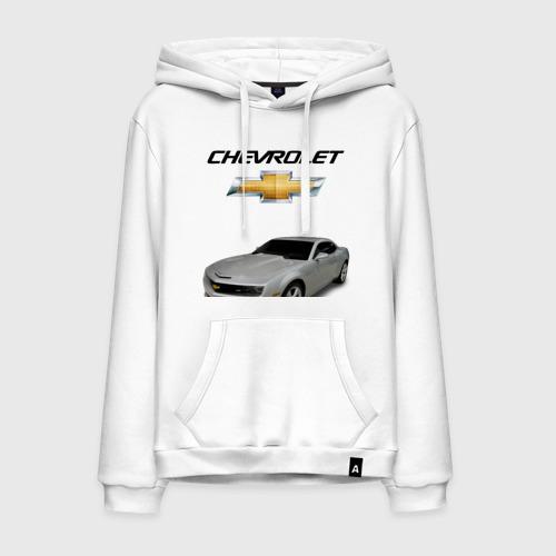 Мужская толстовка хлопок Chevrolet серебро