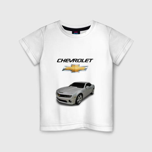Детская футболка хлопок Chevrolet серебро