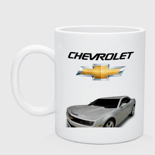 Кружка керамическая Chevrolet серебро