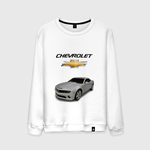 Мужской свитшот хлопок Chevrolet серебро