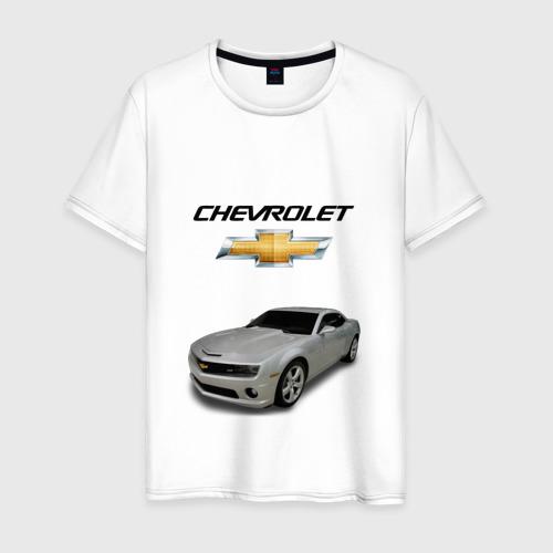 Мужская футболка хлопок Chevrolet серебро