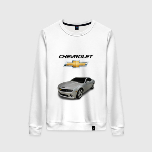Женский свитшот хлопок Chevrolet серебро