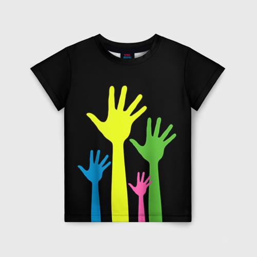 Детская футболка 3D Руки вверх!