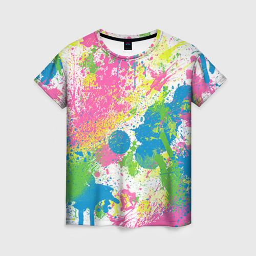 Женская футболка 3D Брызги