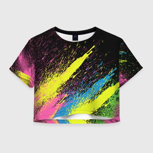 Женская футболка Crop-top 3D Брызги