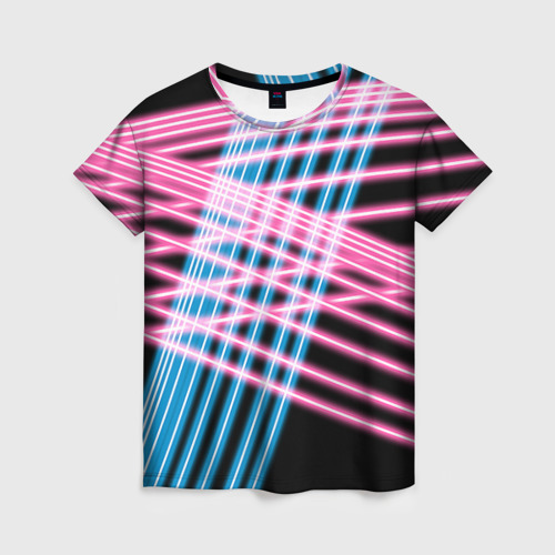 Женская футболка 3D Неон