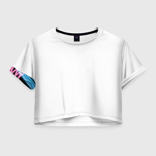 Женская футболка Crop-top 3D Неон