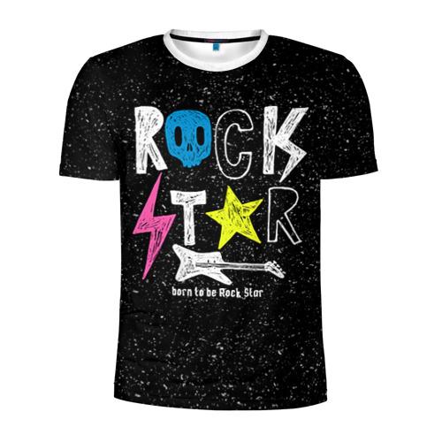 Мужская футболка 3D спортивная Рождён быть рок-звездой