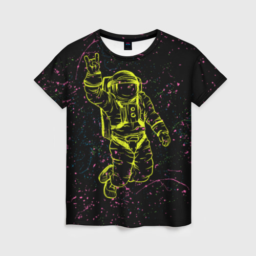 Женская футболка 3D Космический рок