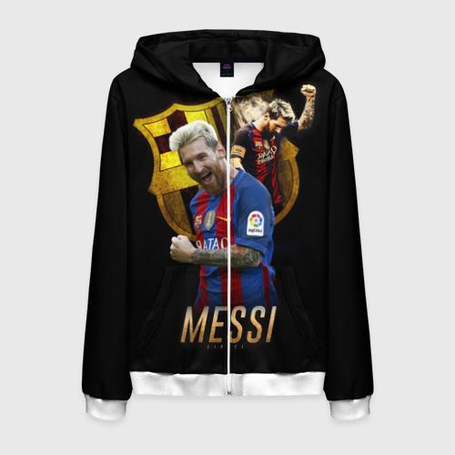 Мужская толстовка 3D на молнии Messi