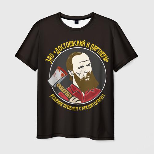 Мужская футболка 3D Достоевский
