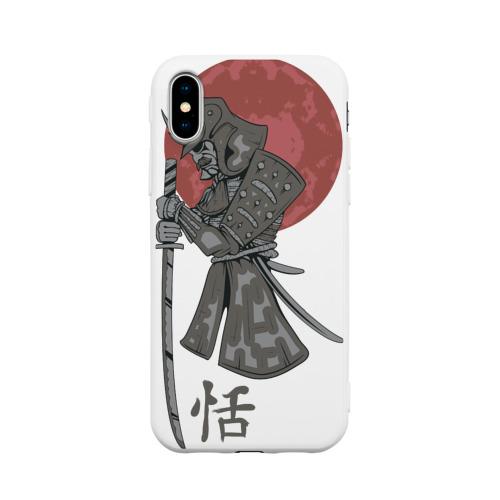 Чехол для iPhone X матовый Самурай