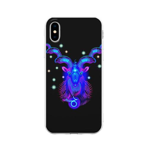 Чехол для iPhone X матовый Козерог