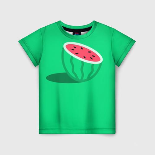 Детская футболка 3D Арбуз