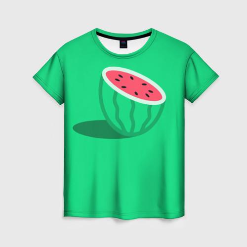 Женская футболка 3D Арбуз