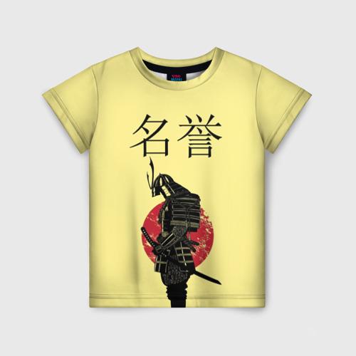 Детская футболка 3D Японский самурай (честь)