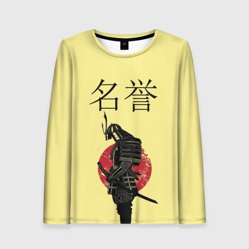 Женский лонгслив 3D Японский самурай (честь)