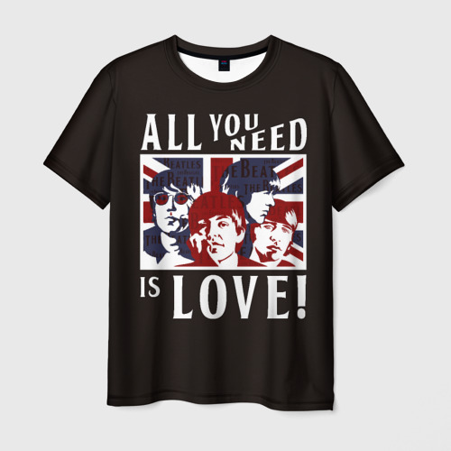 Мужская футболка 3D All You Need Is Love