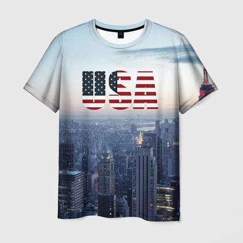 Мужская футболка 3D Город New York
