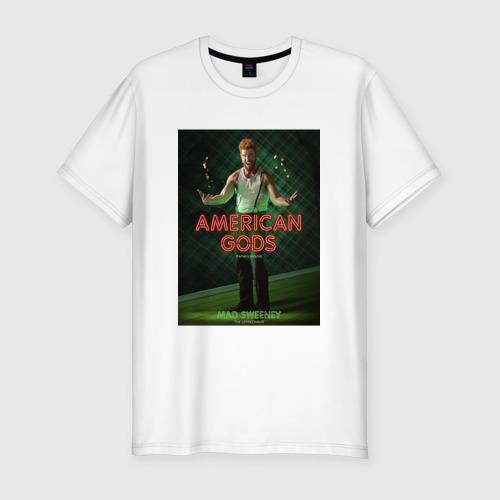 Мужская футболка хлопок Slim Американские Боги 3