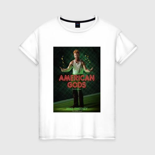 Женская футболка хлопок Американские Боги 3