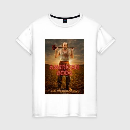 Женская футболка хлопок Американские Боги 5