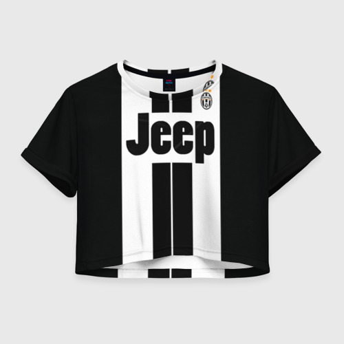 Женская футболка Crop-top 3D Ювентус
