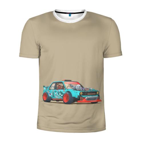 Мужская футболка 3D спортивная Гонка 2