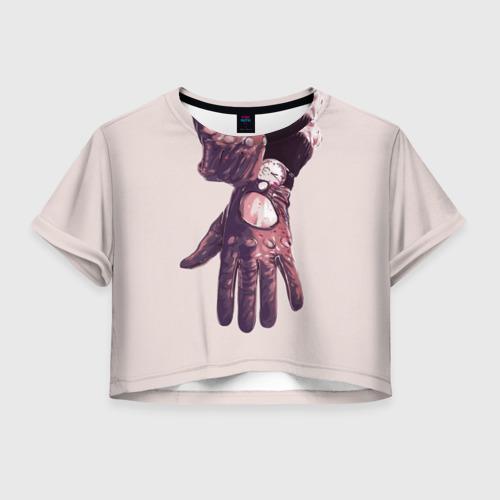 Женская футболка Crop-top 3D Драйв