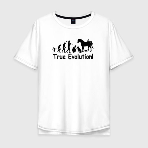Мужская футболка хлопок Oversize Настоящая эволюция