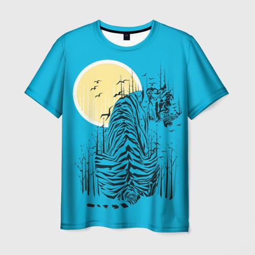 Мужская футболка 3D тигр