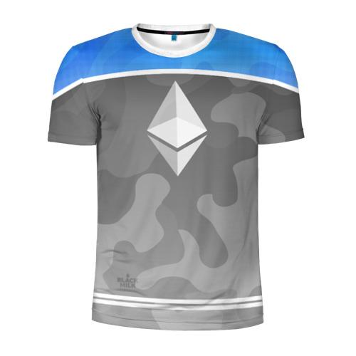 Мужская футболка 3D спортивная Black Milk Ethereum - Эфириум