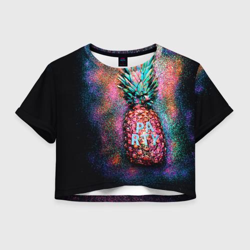 Женская футболка Crop-top 3D Fashion Party