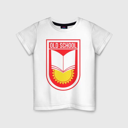 Детская футболка хлопок Старая школа (красный)