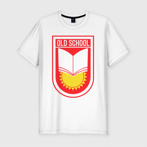Мужская футболка хлопок Slim Старая школа (красный)