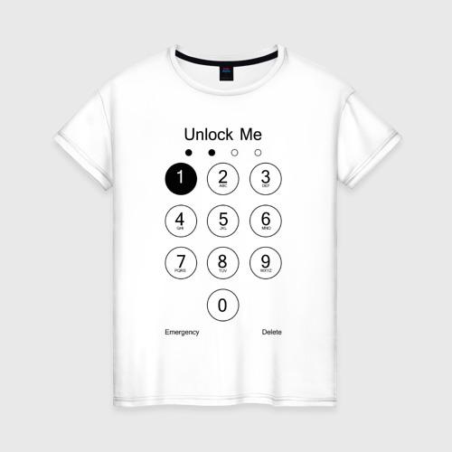 Женская футболка хлопок Разблокируй меня