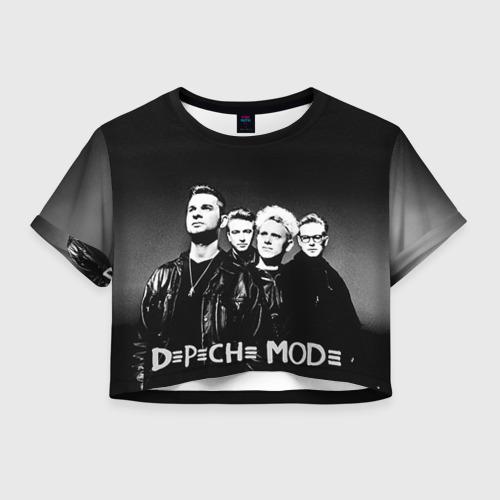 Женская футболка Crop-top 3D Depeche mode