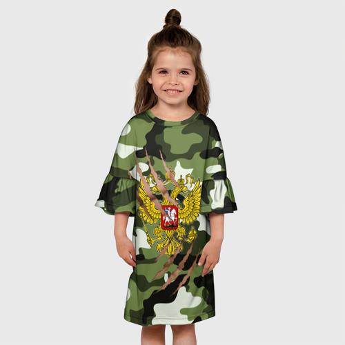 Детское платье 3D Рваный камуфляж мужской