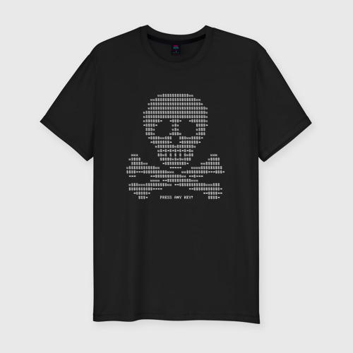Мужская футболка хлопок Slim Petya Virus - Вирус Петя