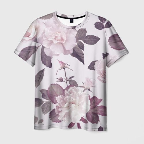 Мужская футболка 3D Розы