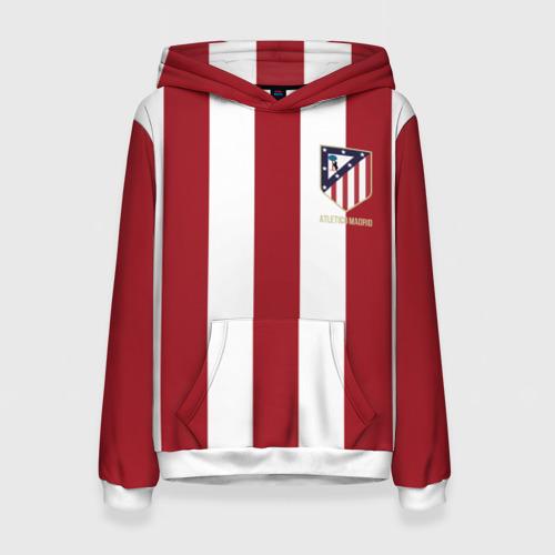 Женская толстовка 3D Атлетико Мадрид