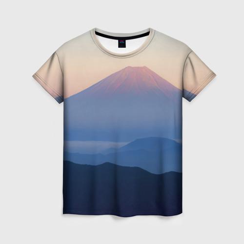 Женская футболка 3D Фудзияма