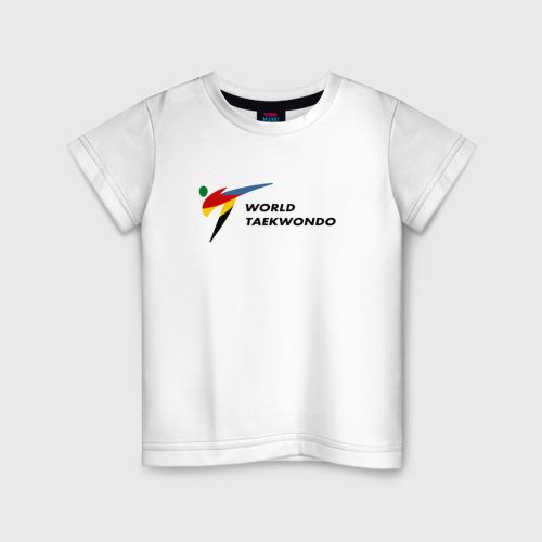Детская футболка хлопок World Taekwondo logo