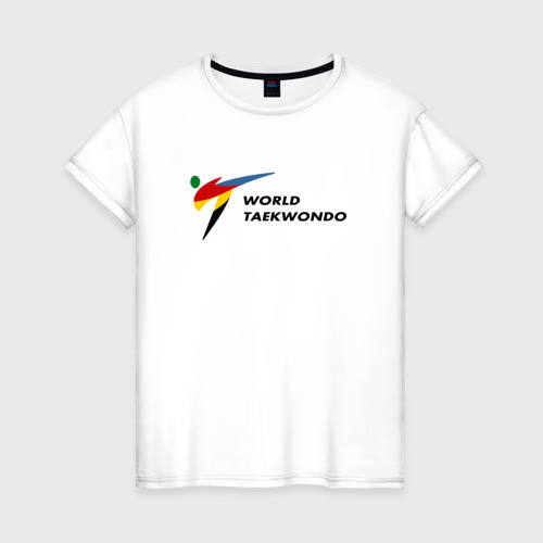Женская футболка хлопок World Taekwondo logo