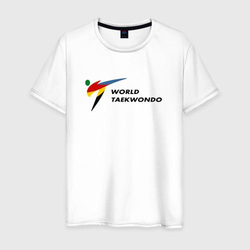 Мужская футболка хлопок World Taekwondo logo
