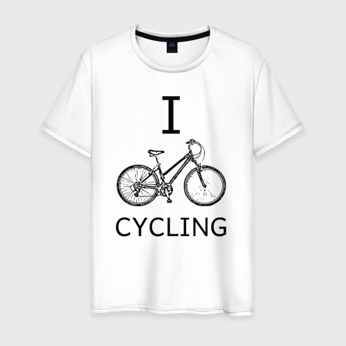 Мужская футболка хлопок I love cycling
