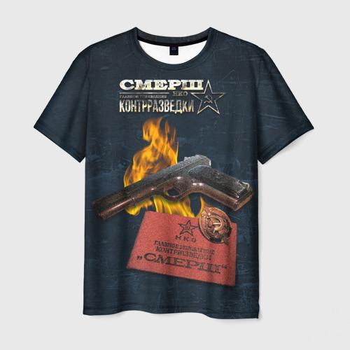 Мужская футболка 3D СМЕРШ